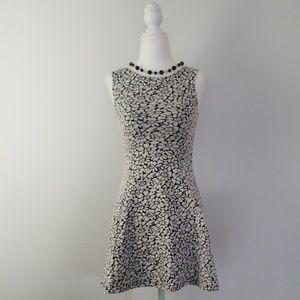 H&M Black & White Stretch Dress - Preloved